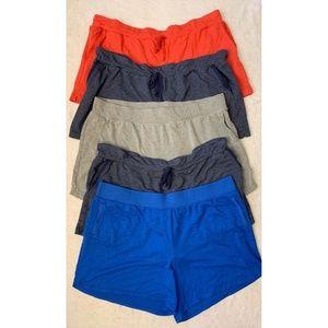 Terra & Sky Womens Knit Shorts Blue Gray Pink 3X